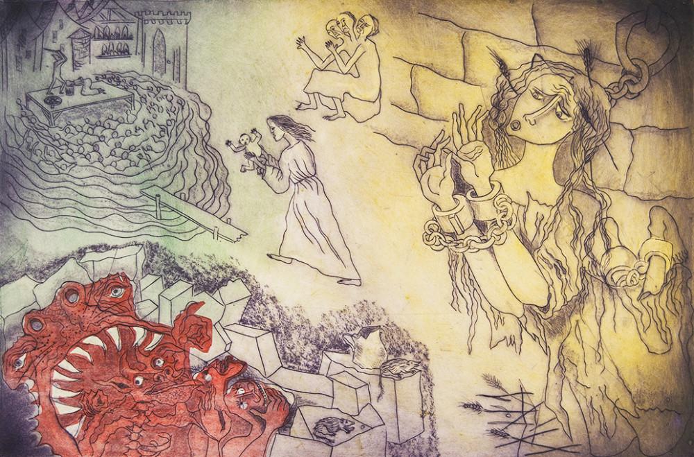 Peter Lipman-Wulf (1905-1993), Print, 15 x 21.75 in., Etching/Embossing.