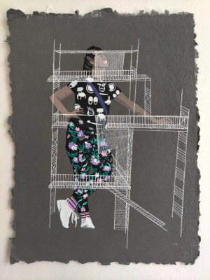 "Artwork ""Scaffold"" by Elan Cadiz in celebration of Black History Month."