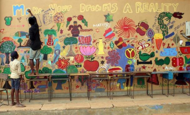 Make Your Dreams Come True, Grade 8 mural.