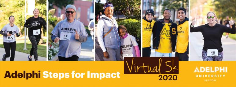 Adelphi University Steps for Impact Virtual 5K 2020